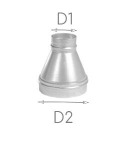 купить переход на трубу, переход на круглую трубу, переход диаметров труб, переход стальной, переход трубы