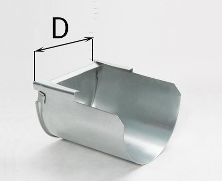 заглушка желоба, заглушка желоба водосточного, заглушка желоба цена